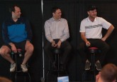 From left: Jason Strudwick, Jamie McClennan, Rob Brown, and MC Rob Kerr. (Photo credit: LA Media)
