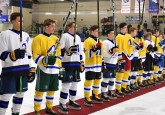 Members of Edmonton Yellow and Northwest pay tribute to all those affected by the Humboldt Broncos tragedy. (Photo credit: LA Media)