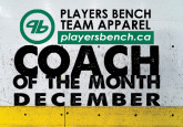 Coach of the Month - December