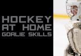 Hockey at Home Goalie Skills - Moving Across the Crease & Tracking