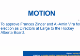 Vira, Zinger elected to Hockey Alberta Board