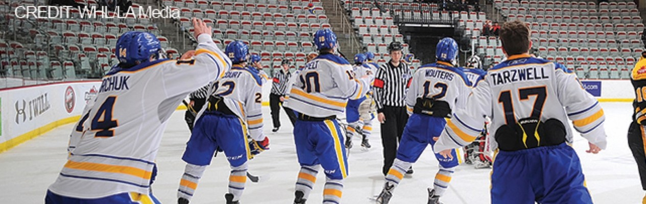 Team Alberta celebrates its Western Canada U16 Challenge Cup Title. Photo: LA Media