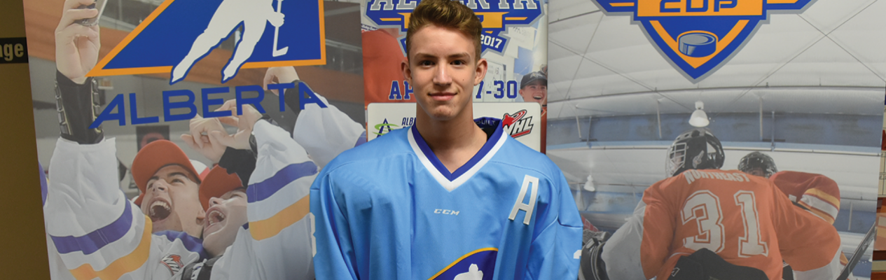 Joe Hawkins (Edmonton Blue), a 2015 Peewee Prospects Cup champion with Edmonton Green, looks back on his experience in 2015 and how it helped prepare him for the Alberta Cup