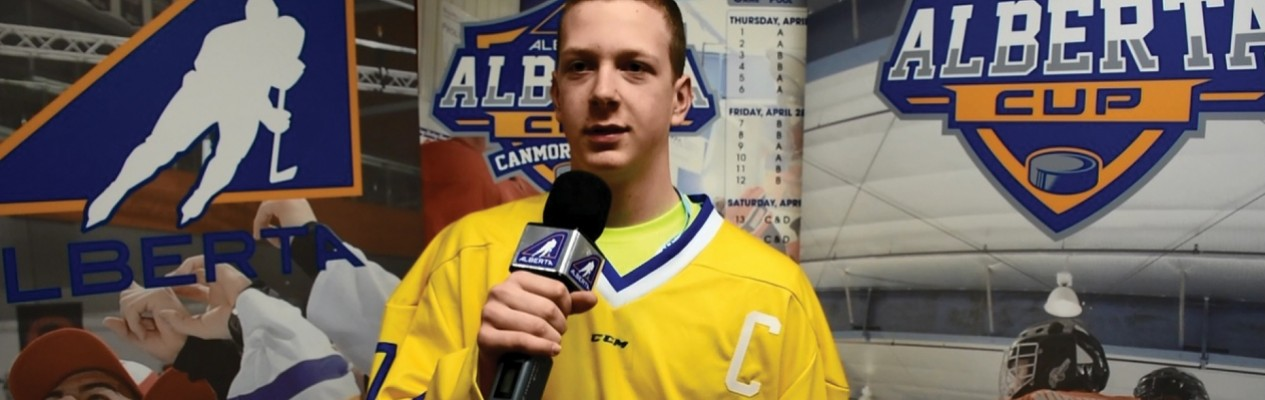 Edmonton Yellow defenceman Luke Prokop is one of four athletes playing in  the Alberta Cup whose 5744d7508