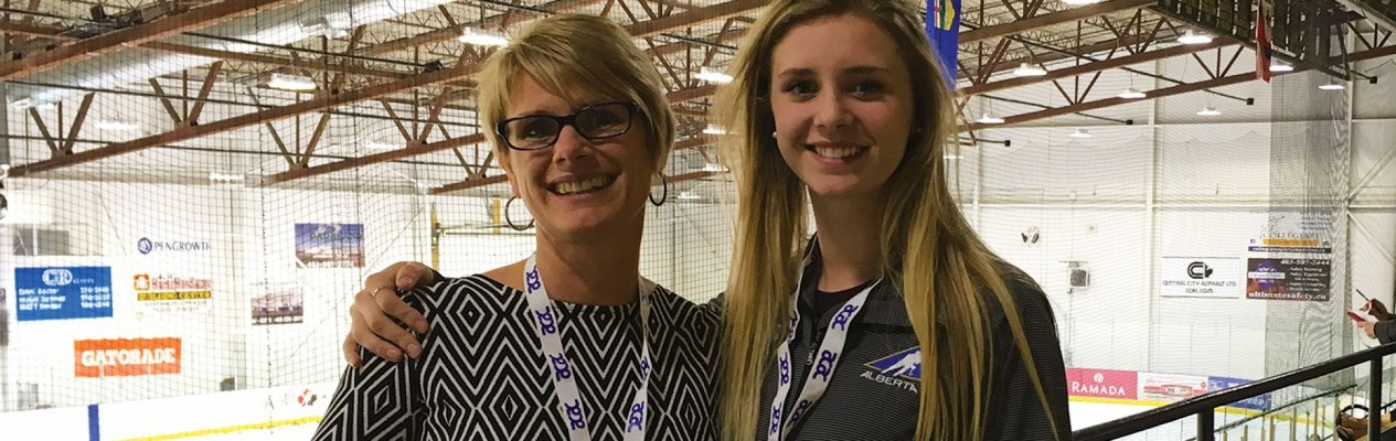 Former Team Alberta player Channia Alexander (right) and her mom, Val, will be going head-to-head this weekend as Directors of Operations at the 2017 Alberta Challenge.