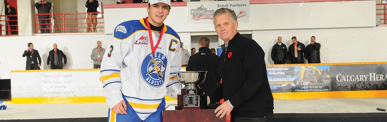Former Team Alberta captain Cale Clague is one the thirty Albertans invited to attend Hockey Canada's Summer Showcase in July. (Photo credit: LA Media)