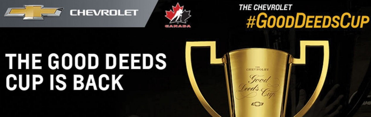 Peewee teams - Enter the Chevrolet Good Deeds Cup!