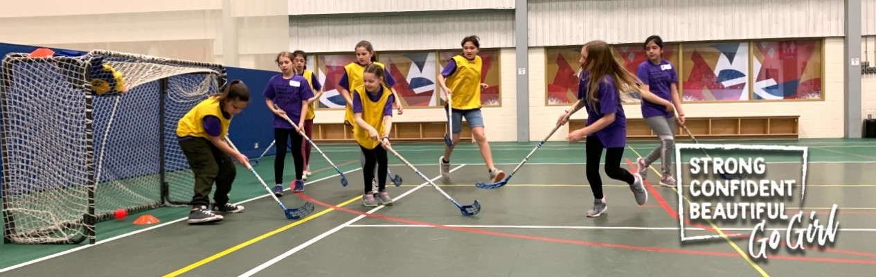 Grade 5 Girls Introduced to Hockey Basics