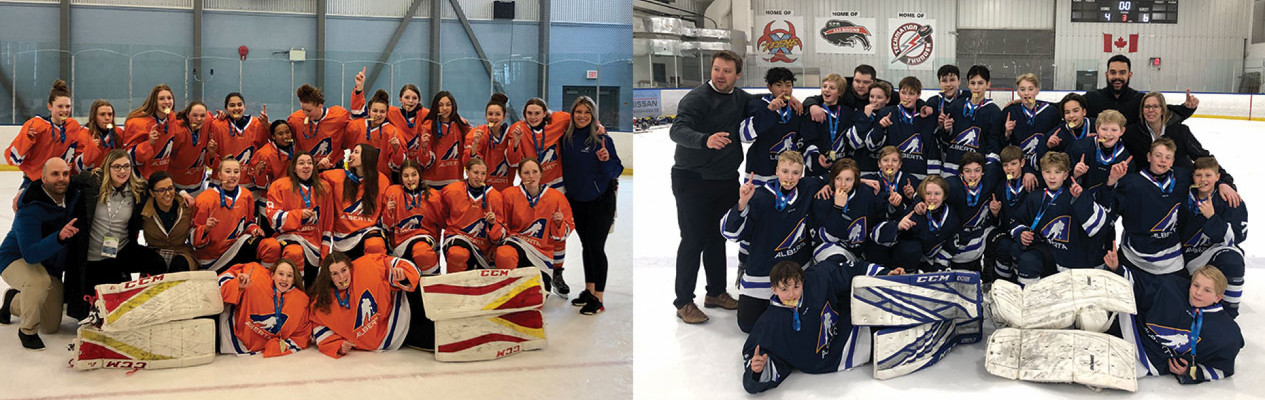 Zones 4 and 7 win gold at 2020 Alberta Winter Games