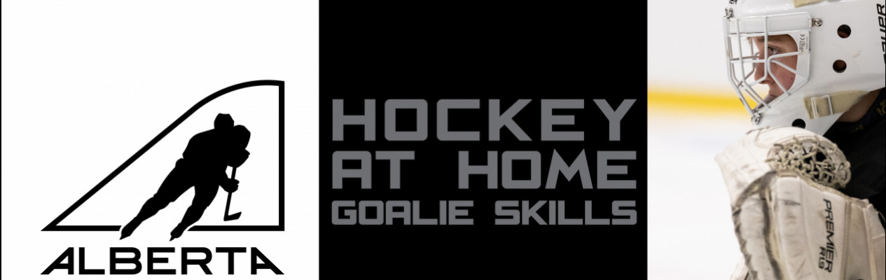 Hockey at Home Goalie Skills - Passing from a Butterfly Position