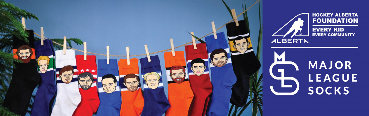 Major League Socks pairs up with Hockey Alberta Foundation