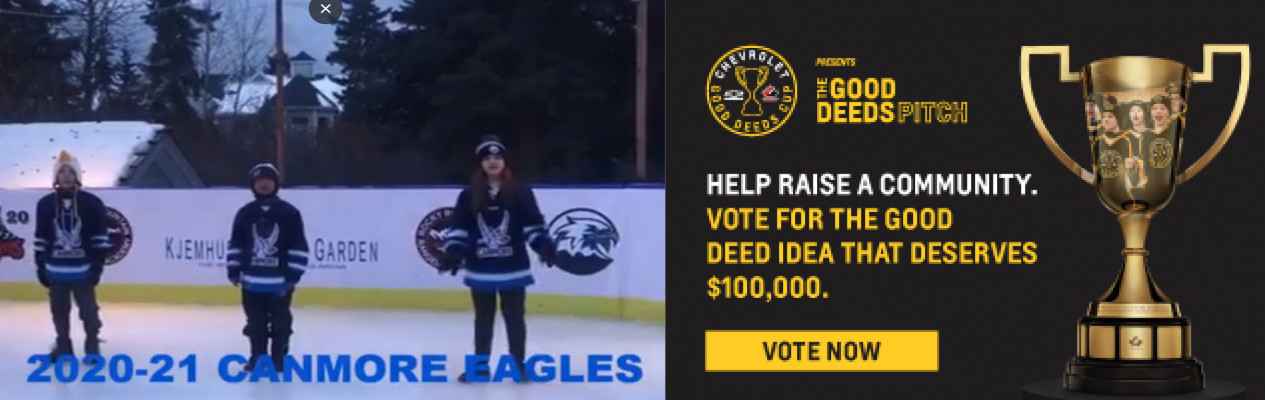 The Canmore U13 A Eagles need your vote!