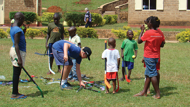 My son Lucas and I recently went to Africa as part of a giving back  initiative. Our Peewee hockey team filled a hockey bag of mini sticks and  balls that we ... 9f7cceb27