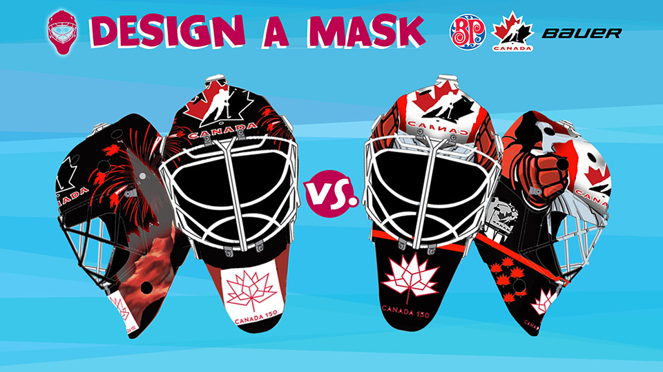 eedb13b57b9 Your votes will determine which masks will be worn by Canada s National  Junior Team goaltenders at the 2018 IIHF World Junior Championship